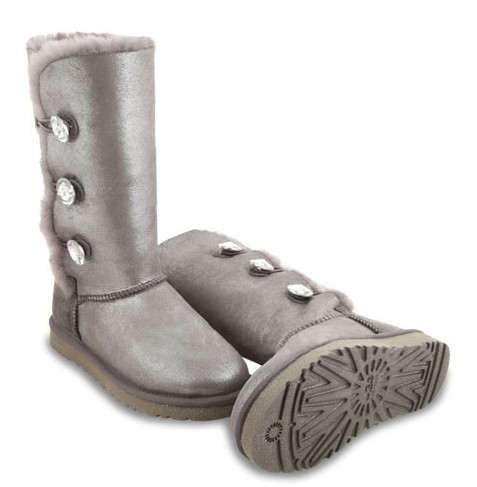 UGG Bailey Button Triplet Glitter Grey