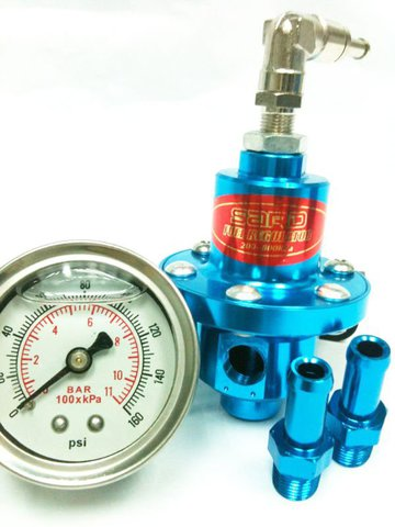 Sard Standart Регулятор давления топлива+манометр  Adjustable Fuel Pressure Regulator