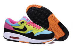 Кроссовки женские Nike Air Max 87 Blue Black Yellow Pink