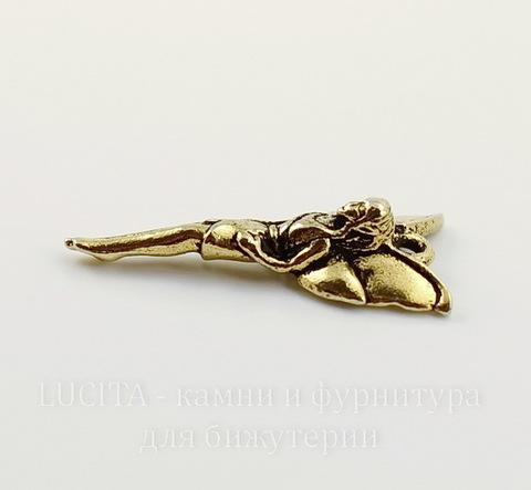 """Подвеска TierraCast """"Лесная фея"""" (цвет-античное золото) 25х12 мм"""