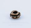 Бусина металлическая - спейсер (цвет - античная медь) 6х3 мм, 10 штук