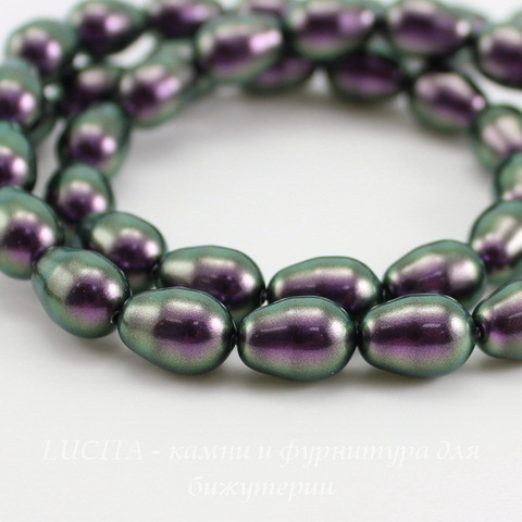 5821 Хрустальный жемчуг Crystal Iridescent Purple  грушевидный 11х8 мм ()