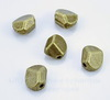 Бусина металлическая фриформ (цвет - античная бронза) 9х9 мм