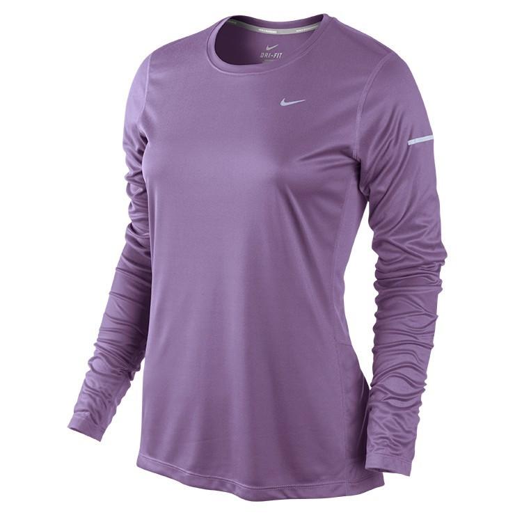 Футболка Nike Miler LS Top (W) /Рубашка беговая