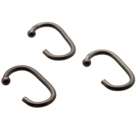 Набор из 12 крючков для шторки C Type Hook Bronze от Carnation Home Fashions