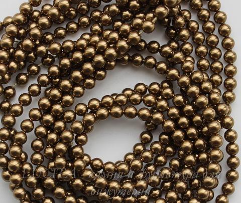 5810 Хрустальный жемчуг Сваровски Crystal Antique Brass круглый 4 мм, 10 штук
