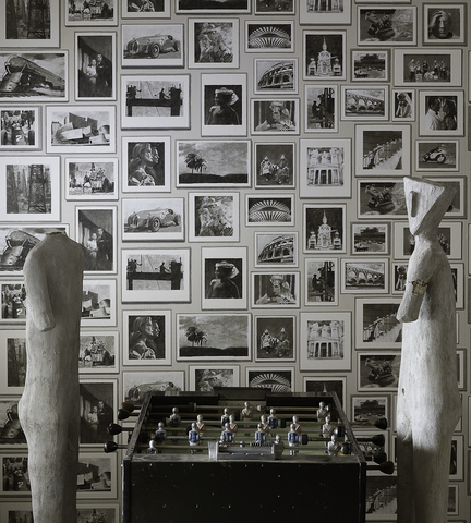 Обои Andrew Martin Museum Studio Charcoal (комплект из 3 рулонов), интернет магазин Волео
