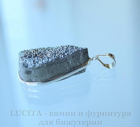 Подвеска Кварц в рамке (цвет - античное серебро) 35,2х27,2х12,9 мм №15