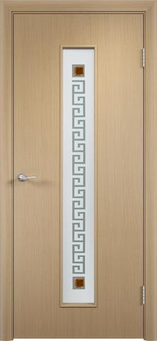 Дверь Верда C-17 (квадрат), цвет беленый дуб, остекленная
