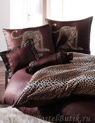 Элитная наволочка Gepard коричневая от Elegante