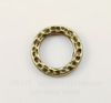 """Коннектор - кольцо TierraCast """"Hammertone"""" 13 мм (цвет-античная латунь)"""