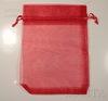 Подарочный мешочек из органзы красный, 17х12,5 см ()