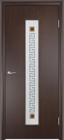 Дверь Верда C-17 (квадрат), цвет венге, остекленная