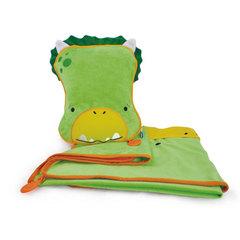 Динозаврик Дадли SnooziHedz: детский дорожный набор подушка и плед