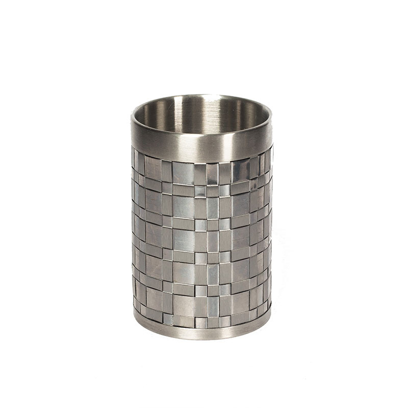 Стакан для зубной пасты Basketweave Silver от Avanti