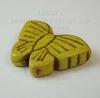 """Бусина Говлит, """"Бабочка"""", цвет - желтый, 20х27 мм ()"""