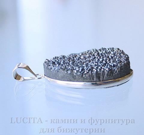 Подвеска Кварц в рамке (цвет - античное серебро) 36,1х21,7х10,7 мм №1