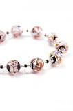 Ожерелье Арлекино серебристое, крупные бусины (уточняйте наличие)