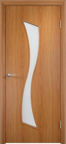 Дверь Верда C-19, цвет миланский орех, остекленная