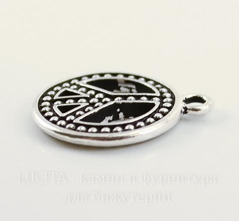 """Подвеска TierraCast """"Пацифик"""" (цвет-античное серебро) 23х20 мм"""