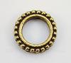 """Рамка для бусины круглая TierraCast """"Бусинки"""" (цвет-античное золото) 14х3 мм"""