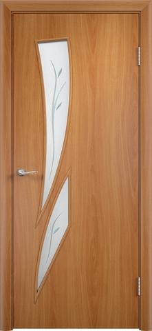 Дверь Верда C-2 (фьюзинг), цвет миланский орех, остекленная