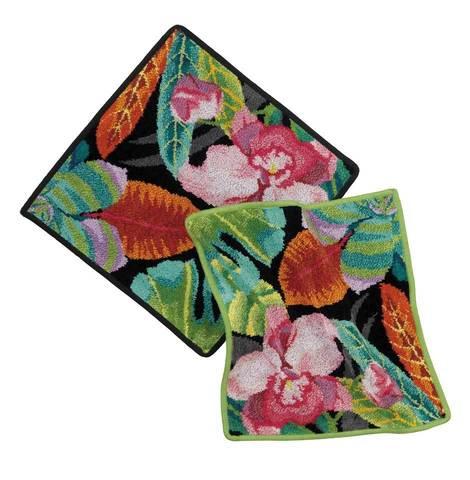 Элитная салфетка шенилловая Rainforest 195 blattgrün от Feiler