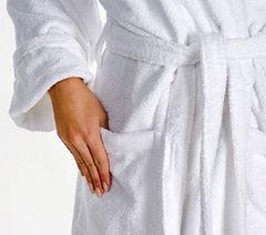 Элитный халат махровый Fyber белый от Carrara