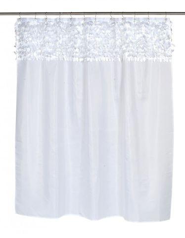 Элитная шторка для ванной Jasmine White от Carnation Home Fashions