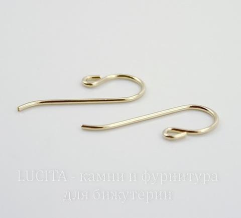 Швензы-крючки TierraCast  20х8 мм (цвет-золото), Gold filled 14K, пара