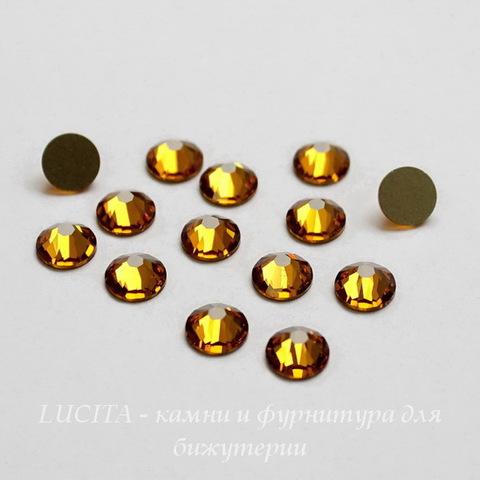 2058 Стразы Сваровски холодной фиксации Topaz ss12 (3,0-3,2 мм), 12 штук ()