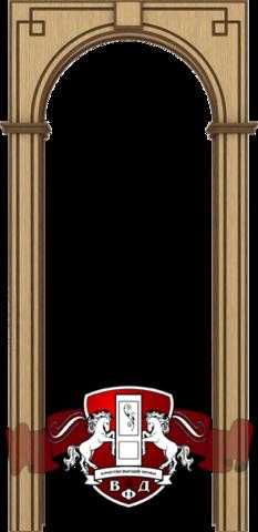 Арка межкомнатная шпонированная Владимирская фабрика дверей, Классика, цвет светлый дуб
