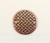 """Коннектор (1-1)TierraCast """"Плетеный диск"""" (цвет-античная медь) 19 мм"""