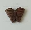 """Бусина Говлит """"Бабочка"""", цвет - коричневый, 20х27 мм ()"""