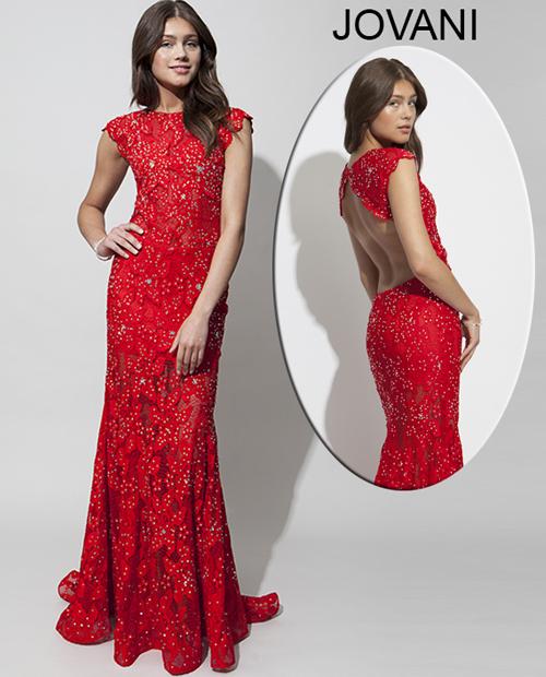 Платье кружевное красное длинное платье