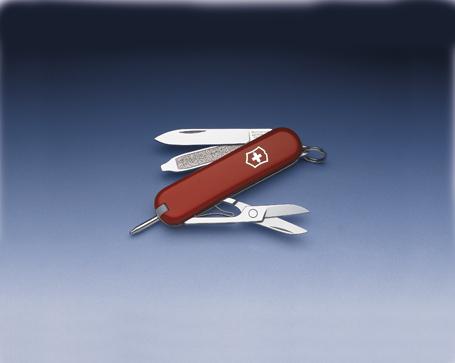 Нож-брелок Victorinox Classic Signature, 58 мм, 7 функ, красный  (0.6225)
