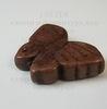 """Бусина Говлит """"Бабочка"""", цвет - коричневый, 20х27 мм"""