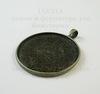 Сеттинг - основа - подвеска для камеи или кабошона 25 мм (цвет - бронза)