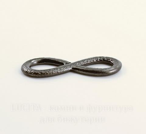 """Коннектор TierraCast """"Бесконечность"""" 32х12 мм (цвет-черный никель)"""