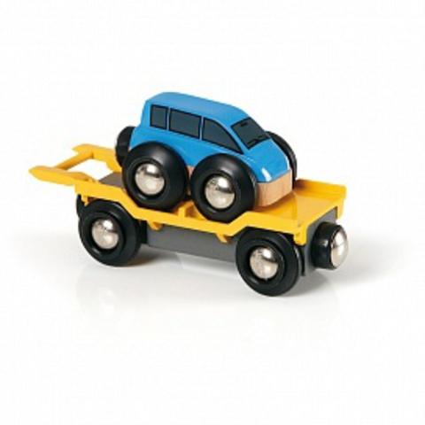 33577 BRIO Вагон автоплатформа с машинкой