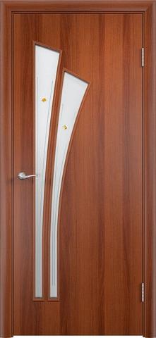 Дверь Верда C-7 (фьюзинг), цвет итальянский орех, остекленная
