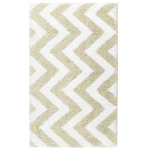 Элитный коврик для ванной Linen Chevron White-Linen от Kassatex