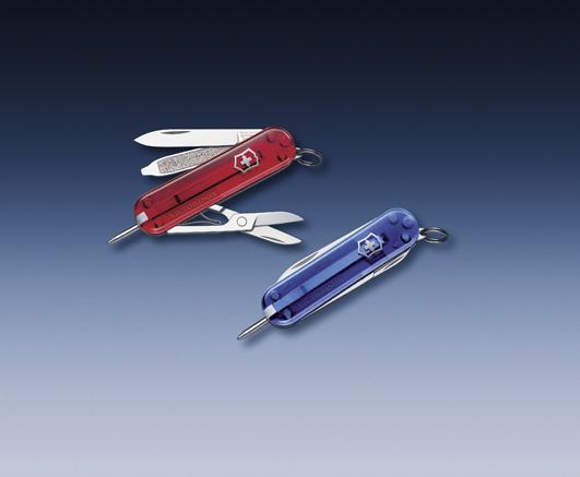Нож-брелок Victorinox Classic Signature, 58 мм, 7 функ, синий полупрозрачный  (0.6225.T2)