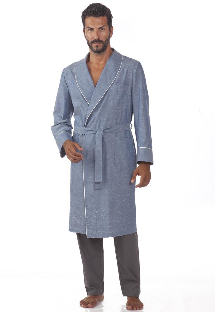 Хлопковый мужской халат B&B (Мужские халаты)
