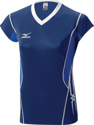 Футболка волейбольная Mizuno Premium W'S Cap Sleeve синяя