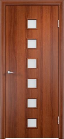 Дверь Верда C-9, цвет итальянский орех, остекленная