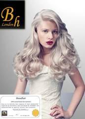 Волосы на  капсулах оттенок #60- длина 52 см