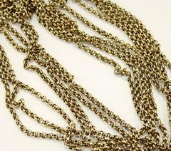 Винтажная цепь (звено 2 мм) (цвет - античное золото), 10 см