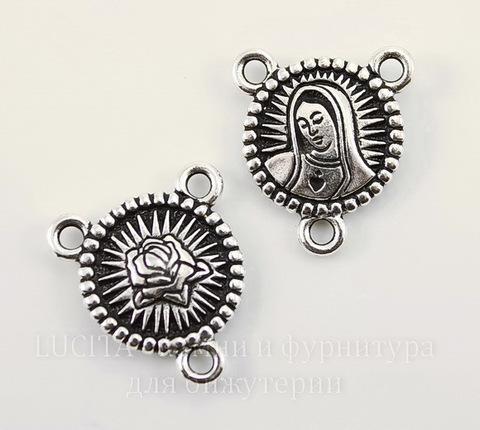 "Коннектор TierraCast ""Дева"" (1-2) 21х19 мм (цвет-античное серебро)"
