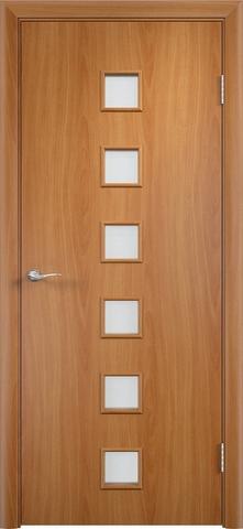 Дверь Верда C-9, цвет миланский орех, остекленная